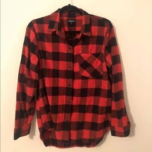 Madewell Ex-Boyfriend Flannel Buffao Check Shirt